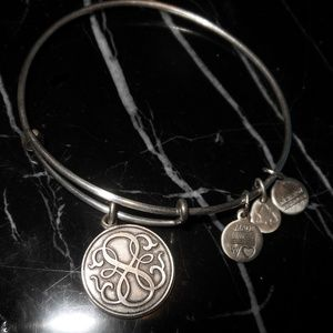 Alex And Ani Endless Loop Charm Silver Rafaeilian
